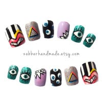 Acid Dreams Mix n' Match Press-On Nails - Set of 12 - Zebber Nails