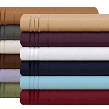1500 Thread Count Egyptian Quality 2pc Set of Pillow Cases, King Size, Sage Green