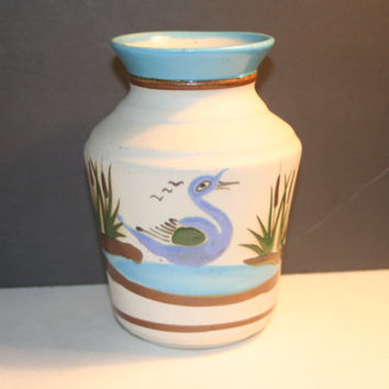 Vintage Mexican Pottery Vase, Collectible Vintage,Home decor,Castawayacres