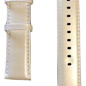 Movado BOLD White Patent Leather 22mm Watch Band Strap with Buckle