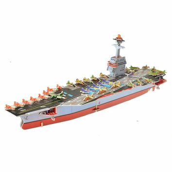 2Style New Arrival 3D Stereo Jigsaw Puzzle Toy Aircraft Carrier Model Toy DIY Creative Puzzle Educational Puzzle Toy