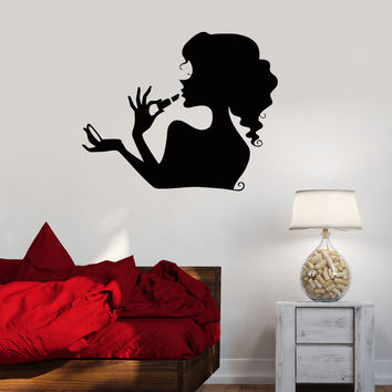 Vinyl Decal Beauty Salon Cosmetics Makeup Woman Girl Room Wall Stickers (ig071)