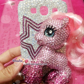 Czech/ Swarovski My Little Pony Pinkie Pie BLING Crystal 3D Cell Phone Case