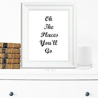 Inspirational Print, Wall Decor, Typography Wall Art, Motivational Print, Inspirational Poster, Teen Gift Ideas, Home Decor - PT0034