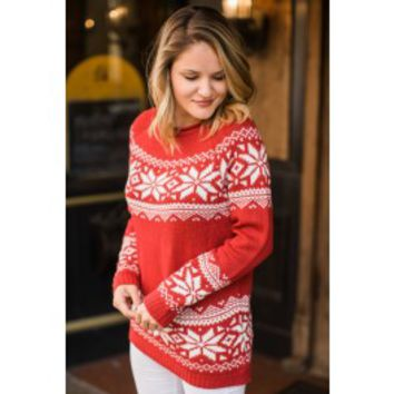 Arctic Winds Red Sweater