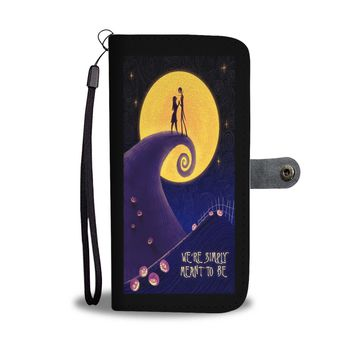 'We're Simply Meant To Be' [Jack Skellington & Sally] Wallet Phone Case