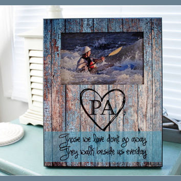 Photo Frame Personalized Picture Frame Rustic Wood Look Monogrammed Photo Frame Custom Photo Frame Photo Frame 8 x 10 w/ 4 x 6