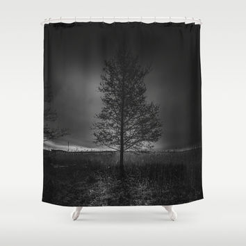 On the wrong side of the lake 3 Shower Curtain by HappyMelvin