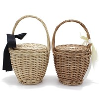 Wicker Basket Beach Handbag