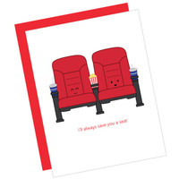 I'll Always Save You a Seat (movie seats) | queenie's cards