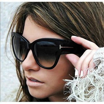 Brand Designer Fashion Women Oversized Cat Eye Sunglasses Ladies Large Size Cateye Gradient Sun Glasses UV400