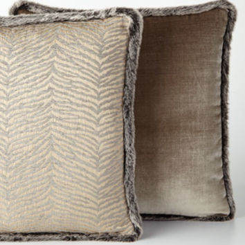 Eastern Accents Faux-Fur Trimmed PIllows