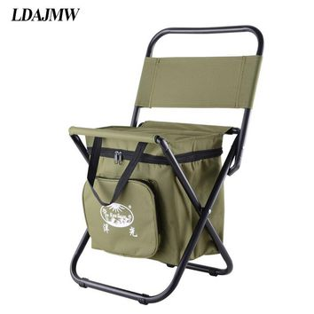 Portable Fishing Chair With Large-Capacity Cooler Bag