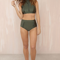 Line Up Bikini Set - Olive