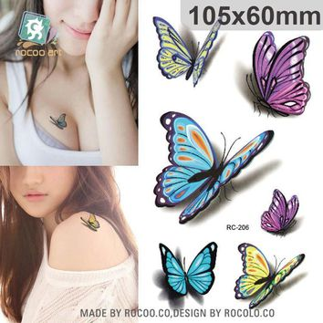 Tattoo Sticker Body Art waterproof temporary  3d sexy colours