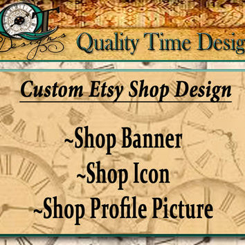 Custom Etsy Shop Design Header Profile Logo Graphic Image Product Design Package Store Brand Business Heading Banner