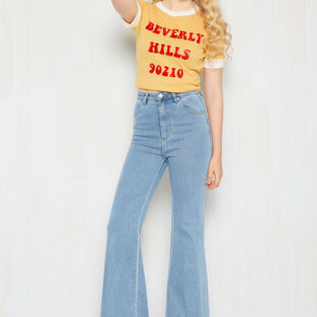 Melbourne to Be Free Jeans in Light Wash | Mod Retro Vintage Pants | ModCloth.com