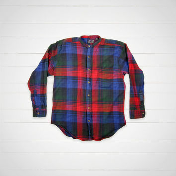 80s Vintage Flannel / 1980s Plaid Shirt / Urban Outfitters Style