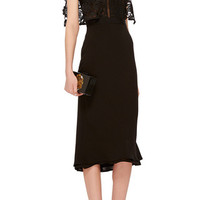 Lace Cape Midi Dress | Moda Operandi