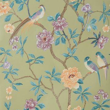 Modern Chinese Style Tree Mural Wallpapers Rustic Wallpaper 3D Flower Birds Wall Paper Living Room Floral Peony Wall Paper Roll
