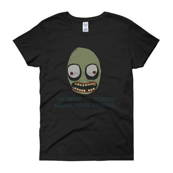 Salad Fingers Spoons I'M Here To Enquire Women'S T Shirt