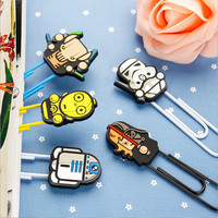 Kawaii Star Wars Bookmarks paper clip holder stationery office School supplies