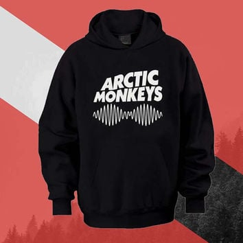 arctic monkeys logo Hoodie Sweatshirt Sweater Shirt black white and beauty variant color Unisex size