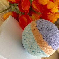 Lavender and mango bath bomb - Bath Bombs - you pick the color - bath bombs - bath fizzies - lush - childrens gift - womens gift