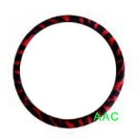 Animal Print Steering Wheel Cover - Zebra Red