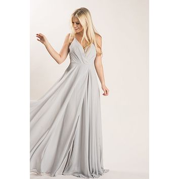 Cassidy Grey Flowy Maxi Dress