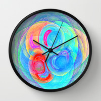 abstract planets Wall Clock by Haroulita