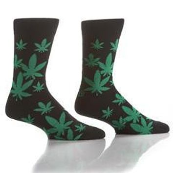 Marijuana leaf socks