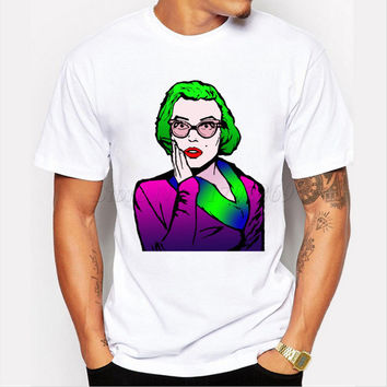 New Cartoon Shocking Marilyn Monroe Design Men's T-shirt Fashion Coloful Creative Printing Male Customized Tops Boy Hipster Tee