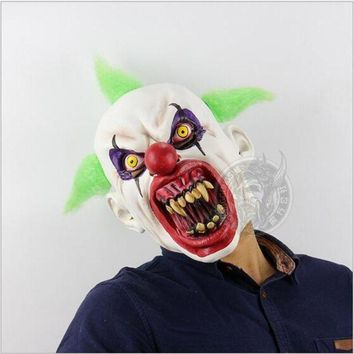 DCCKH6B New Halloween Easter Terror Mask Ashanglife Evil Circus Clown Mask Pennywise Halloween Horror Party Fancy Dress Costume Props