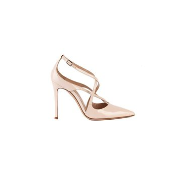 Gianvito Rossi Womens 105 Pink Patent Leather Pumps