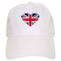 Heart shaped Union Jack Cap on CafePress.com