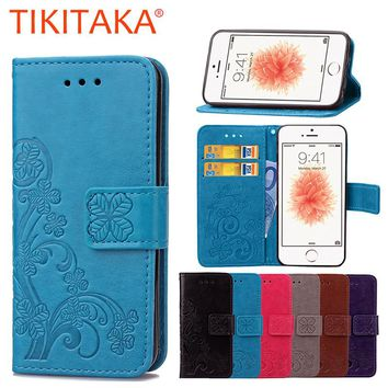 For iPhone 6 6s Case Retro Leather Wallet Flip Soft Cover Flower Phone Cases For iPhone 6 6S Plus Funda Wallet Card Stand Holder