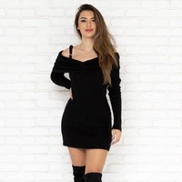 Dakota Sweater Dress in Black