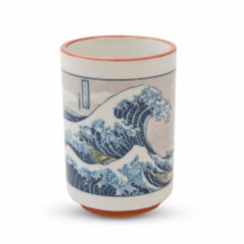 Hokusai Woodblock Print Great Wave Japanese Tea Cup