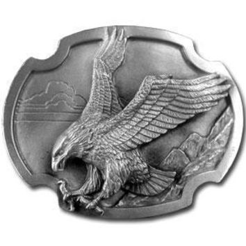 Sports Accessories - Eagle Landing Antiqued Belt Buckle