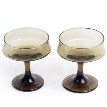 Brown Champagne Glass Set