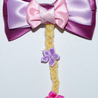 Rapunzel Hair Bow by MickeyWaffles on Etsy