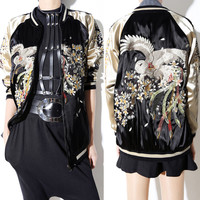 Luxury Embroidered Zipper Bomber Jacket