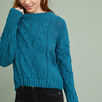 Tralee Cabled Chenille Pullover