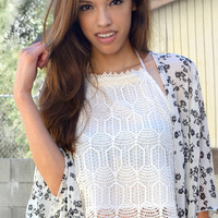 Divinity Lace Crop Top
