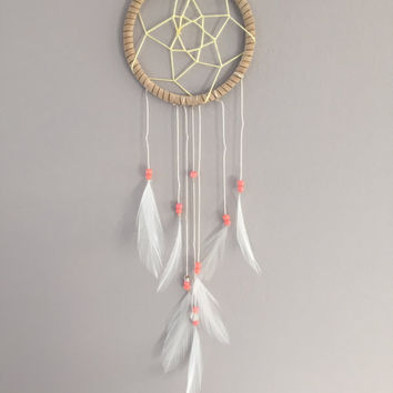 Melon ~ Small Dreamcatcher Wall Hanging, Car Mirror, Locker Accessory
