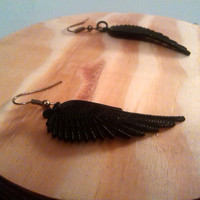 Black wings earrings