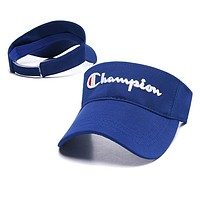 Champion Newest Women Men Embroidery Sports Sun Hat Baseball Cap Hat Blue