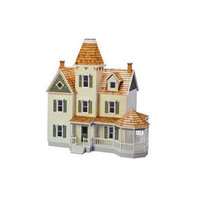 Queen Anne Dollhouse Shell Kit with Component Set @ miniatures.com