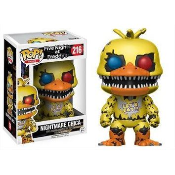 Five Nights at Freddy's Nightmare Chica POP Vinyl Fig, Gamers by Funko